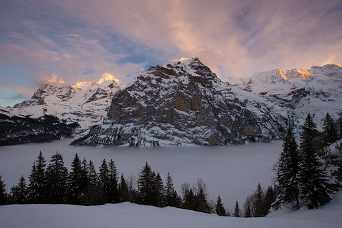 schnee winter sunset sky panorama mountain snow mountains alps cold nature fog clouds landscape schweiz switzerland cool sonnenuntergang nebel view dusk natur himmel wolken berge alpen peaks kalt eiger jungfrau mönch berneroberland mürren silberhorn explored canonef1635mmf4lisusm schwarzmönch canoneos6d