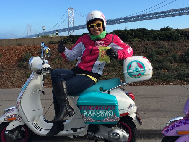 Vespas in Fog City. Jan 4 - 23, 2015.