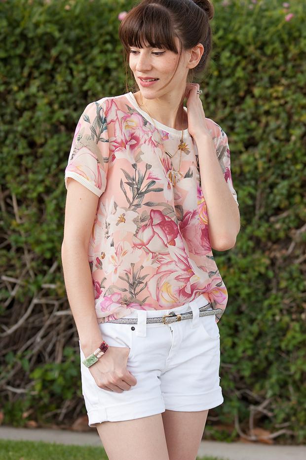 Joe Fresh Floral Top, Pink Floral Top