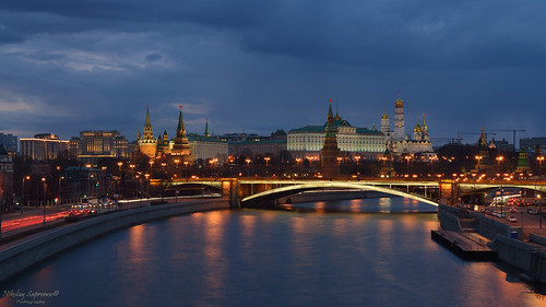 Evening with Moscow Kremlin
