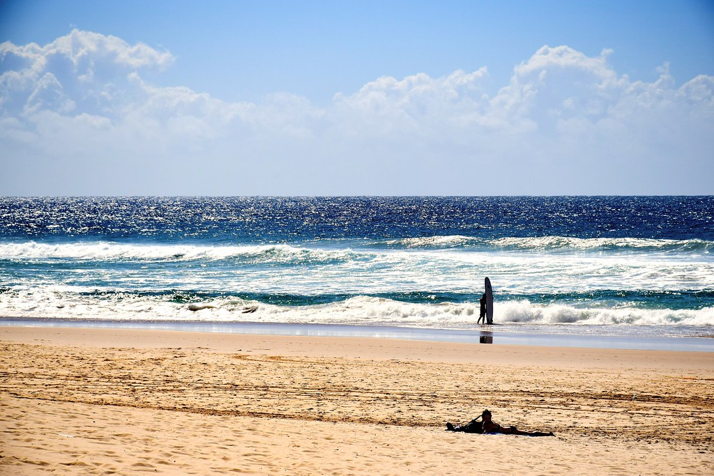 "The ""Surfers' Paradise"" beach in Gold Coast / Australia"