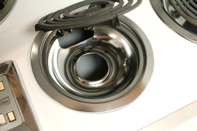 Easily clean drip pans, after