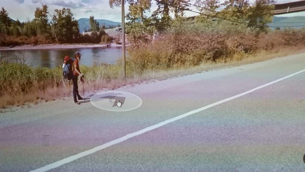 Forever hitchhiking through #googlestreetview Sept 2015 #ridingthroughwalls