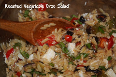 Roasted Vegetables Orzo Salad