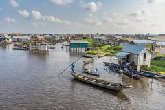 ganvie, floating village