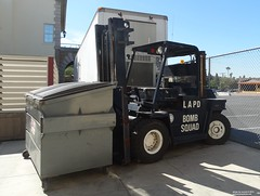 LAPD - remote controlled forklift Bomb Squad (1)