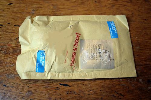 Sometimes mail returns from the Bermunda Triangle :)
