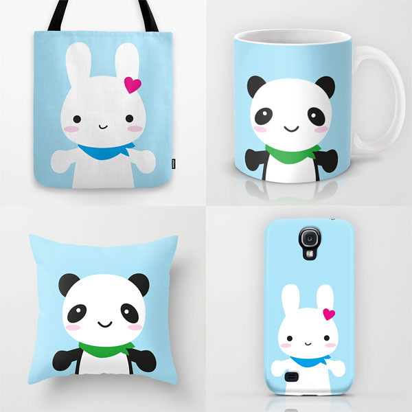 My Bunny & Panda products at Society6