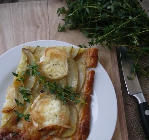 Potato goats cheese thyme tart