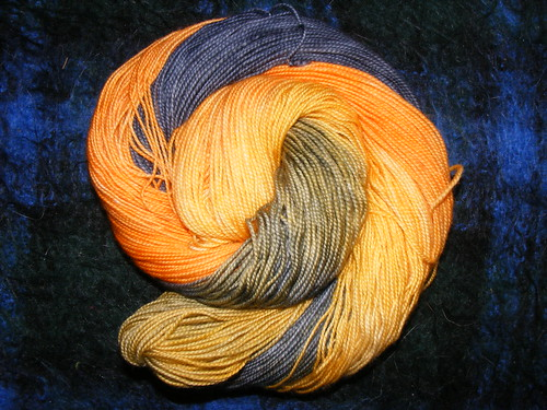 Goldmine, merino sock yarn