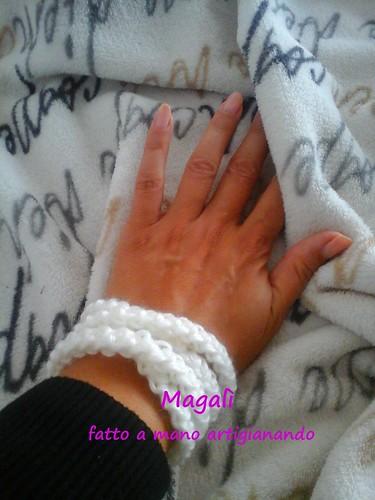 bracciale bianco a spighetta 3