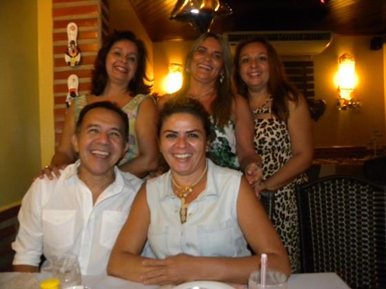 Jeso e Nita Carneiro, com Joselma Pereira, Helena Vidal e Zélia Santos