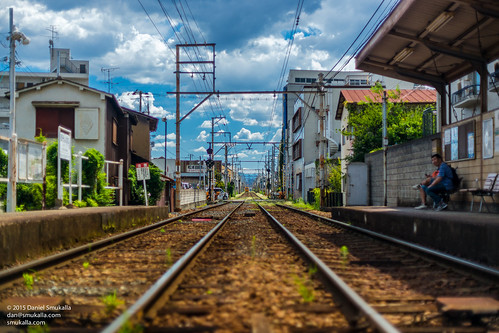 city summer urban station japan digital asia day sony tracks osaka fullframe trolly eastasia cmos osakaprefecture a99 dslt sonya99