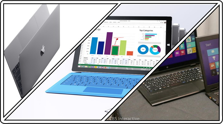 Notebook Comparison Apple MacBook vs Microsoft Surface vs Lenovo LaVie