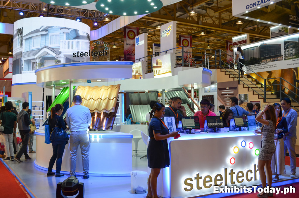 Steeltech Exhibit Booth