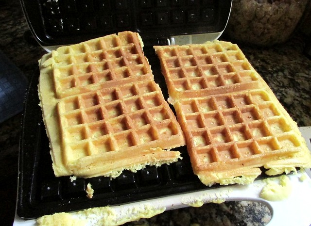 Lemon Cake Batter Waffles