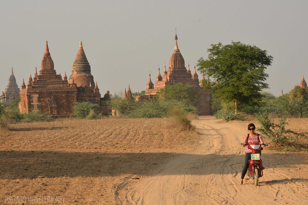 Bagan, Mandalay, Myanmar, Burma, Stupa, Temple, Pagoda, Buddhism, Hot Air Balloon, Motorcycle, E-bike, Puppet, Puppetry, Thanaka