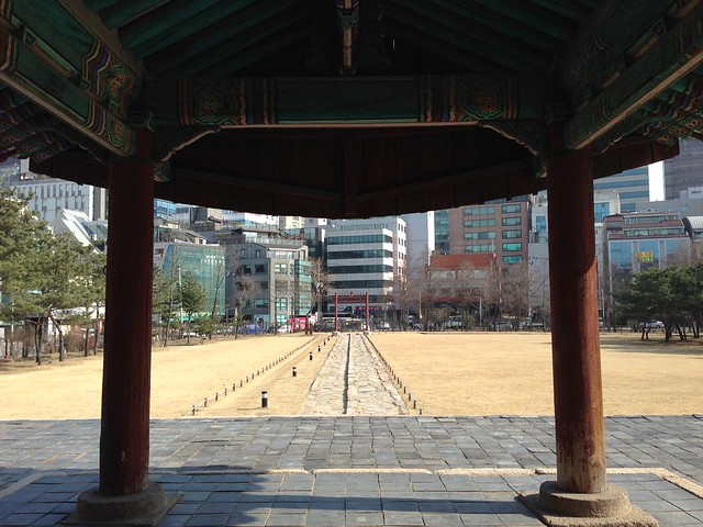 View from the T-shaped shrine
