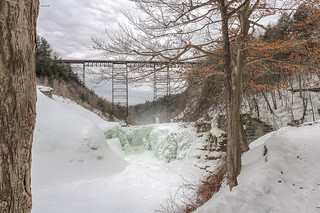 Icy Upper Falls at Letchworth State Park