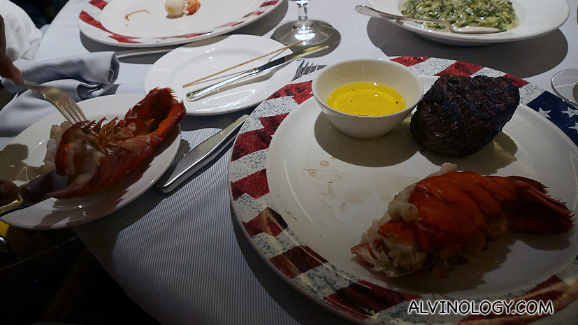 The wait staff de shelled the lobster for me