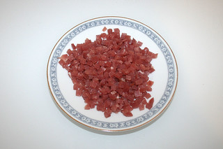 09 - Zutat Bacon gewürfelt / Ingredient diced bacon
