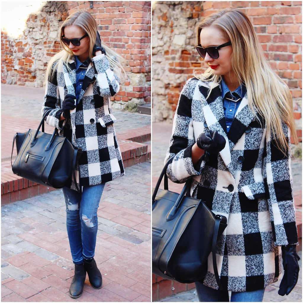plaid coat from lovelywholesale
