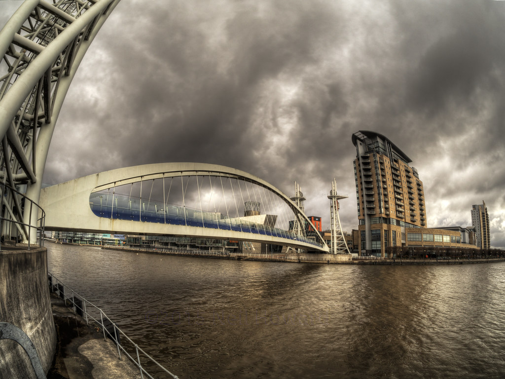 The bridge at Salford Quays, Manchester
