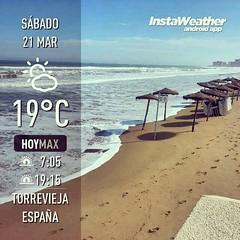 El mar se comió la playa... literalmente!! #igerstorrevieja #igers #Torrevieja #Alicante #Alacant #Costablanca #MarMediterráneo