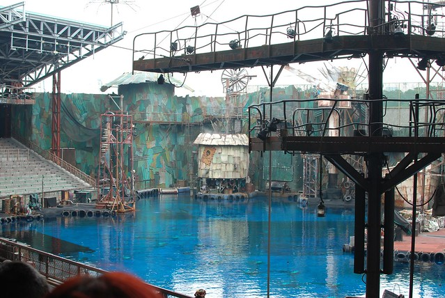 WaterWorld Show with death defying stunts and loud explosions.
