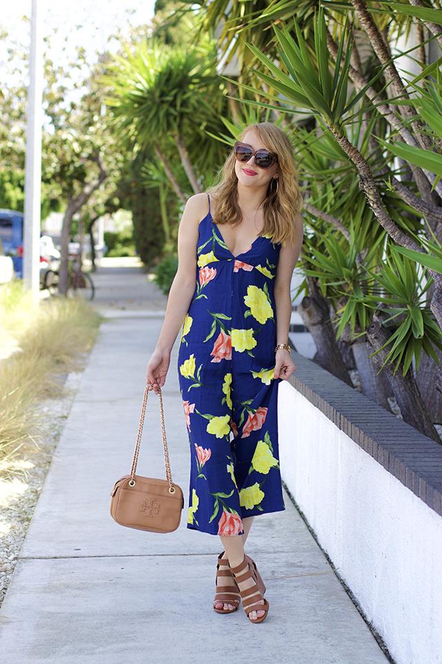 forever21 floral wide-leg cami jumpsuit
