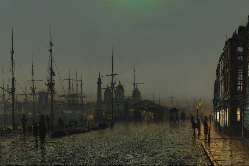 John Atkinson Grimshaw - Hull Docks at Night