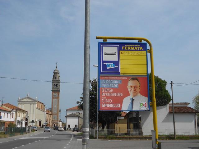 in regione per fare, Gino Spinello, alla fermata dell'autobus