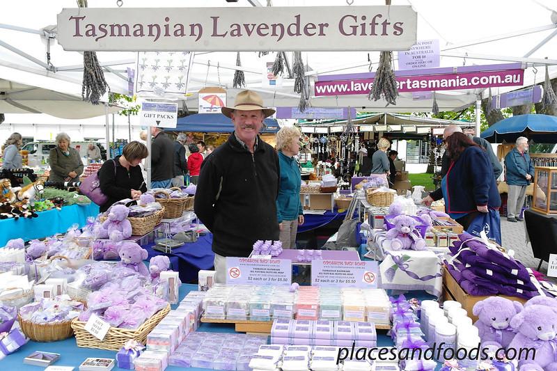 tasmania shopping salamanca market lavender