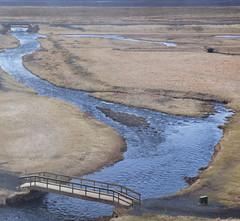 estuary, reservoir, tundra, river, walkway,