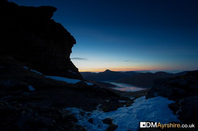 Cobbler at night - the ridge between [IMG_5599]