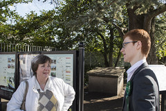 Ross Greer, Scottish Green Party campaigning in Milngavie on 21 March 2015.