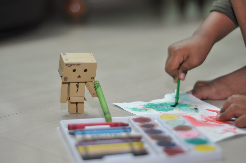 Danbo helping in coloring!