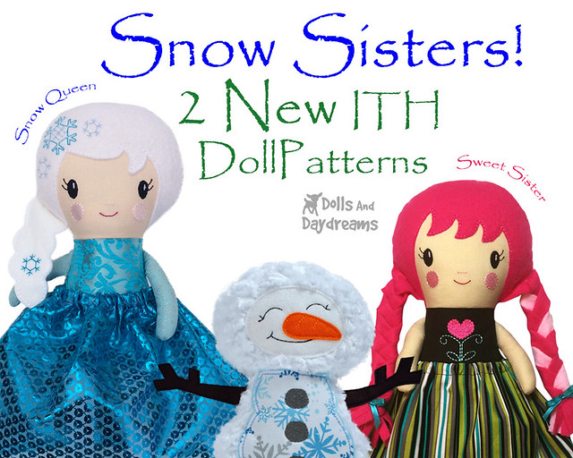 snow sisters ith doll embroidery pattern diy stuffies 2