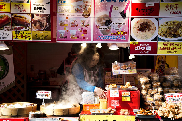 Food Stand in Chinatown