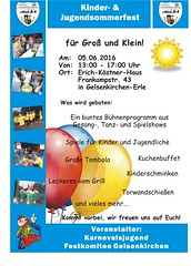 Sommerfest 2016 Karnevalsjugend Gelsenkirchen