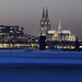 Beautiful Cologne silhouette at night by kalakeli