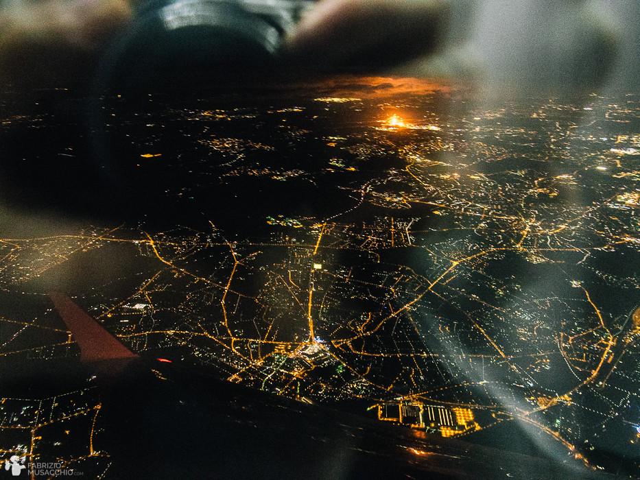 Stockholm, Rückflug nach Düsseldorf (Blick aufs Ruhrgebiet)