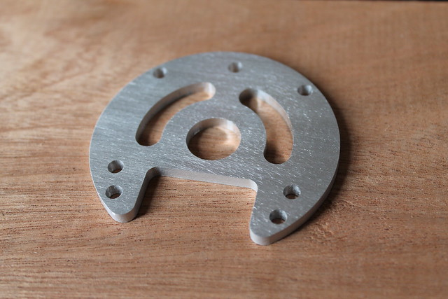 "1/8"" thick aluminum cut by Othermill"