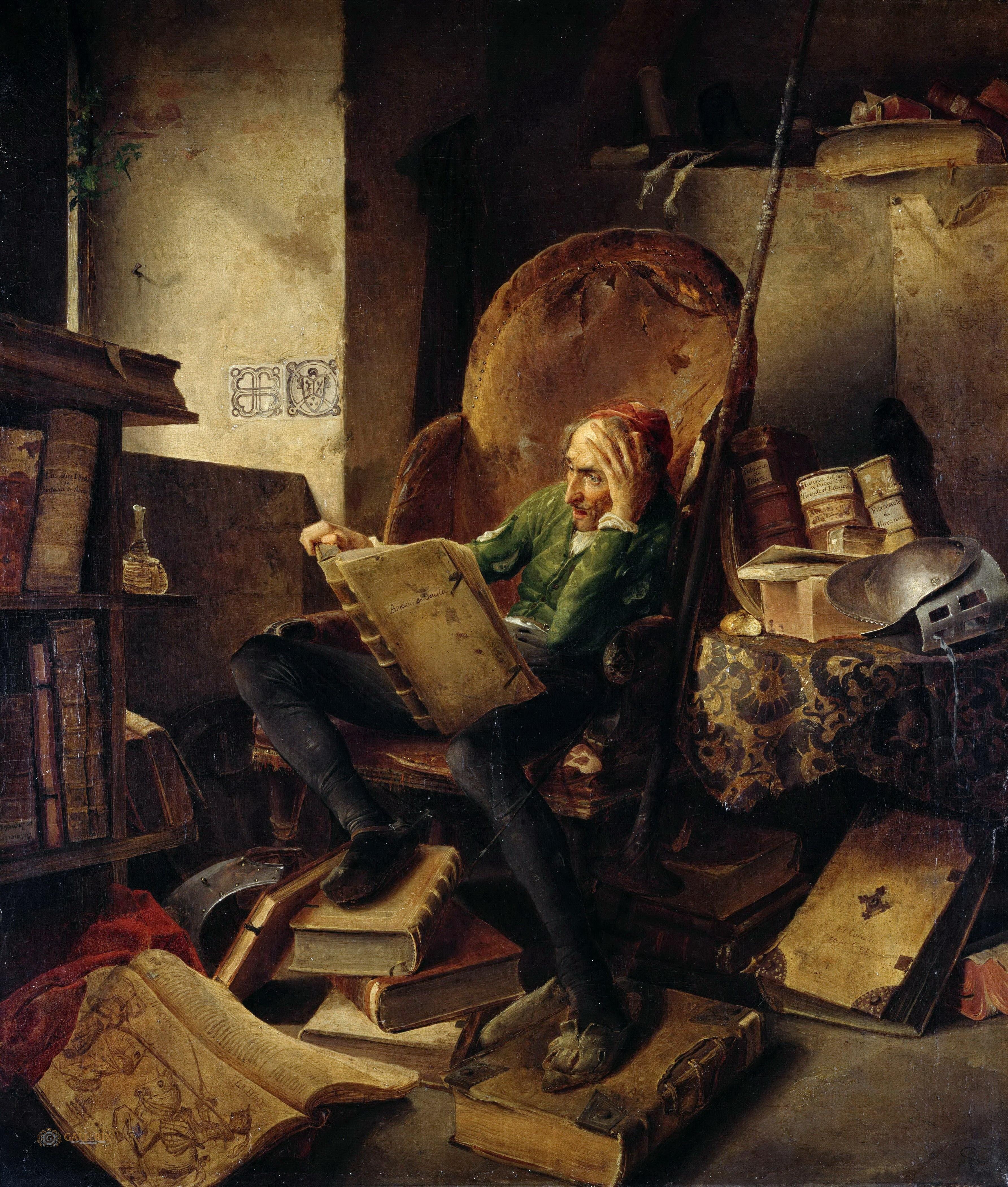 d843c9ccd731 Adolf Schrodter Schwedt - Don Quixote Seated in an Armchair ...