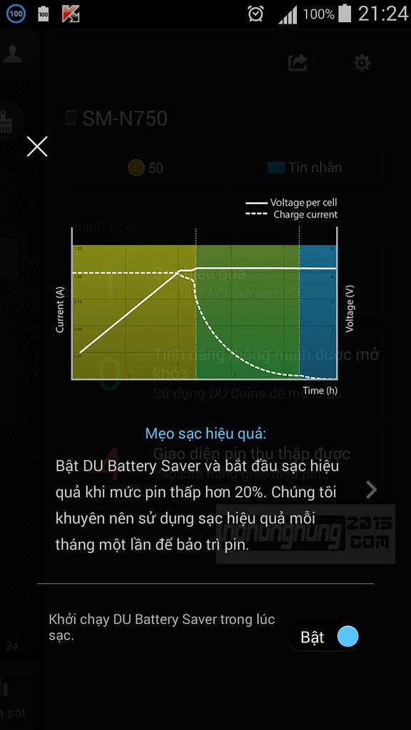 Thế nào là sạc hiệu quả - DU Battery Saver