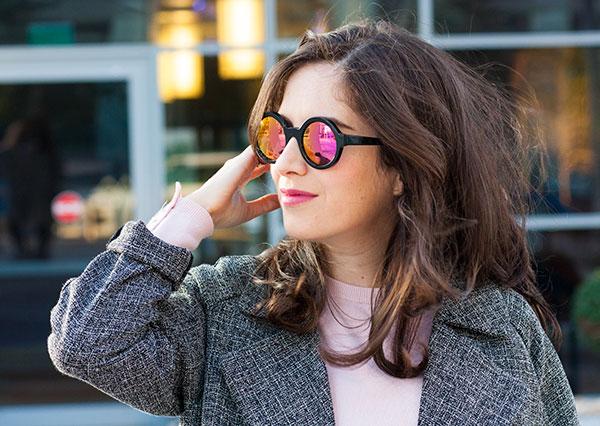 eye like optic, illesteva sunglasses, mirrored sunglasses, illesteva frieda, אופטיקה רעננה, משקפי שמש אילסטבה, משקפי שמש עגולים, בלוג אופנה