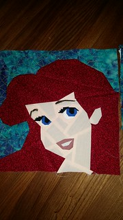Ariel. Paper pieced block. Fandom in Stitches