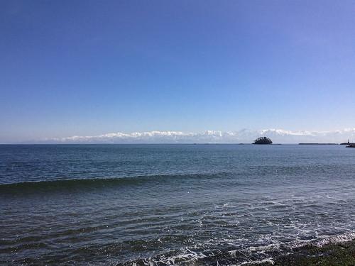 blue sea sky mountain beach nature him toyama seashore tateyama
