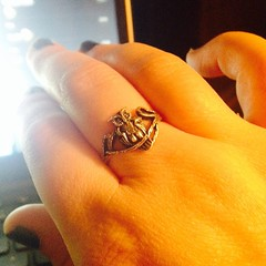 New ring: owls represent wisdom and intelligence-- so no wonder this little guy had to join the entourage.