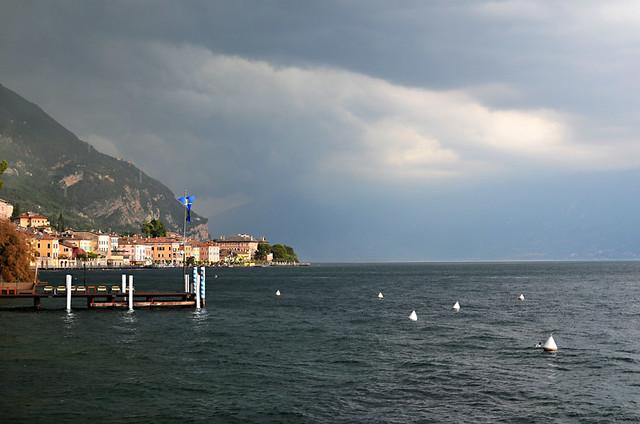 Storm Approaching Gargnano, Lake Garda, Italy